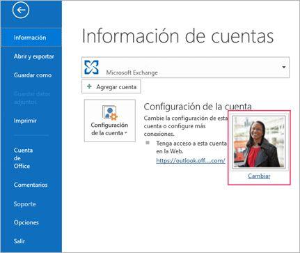 Cambiar vínculo de fotografía en Outlook