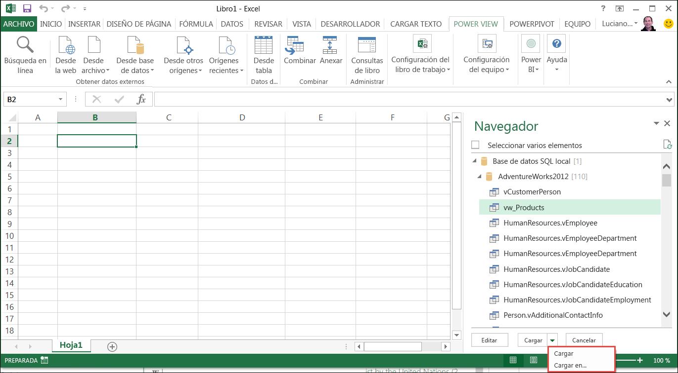 Agregar una consulta a una hoja de cálculo de Excel (Power Query ...