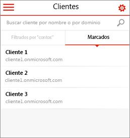 Página principal para móviles Administración del asociado de Office 365
