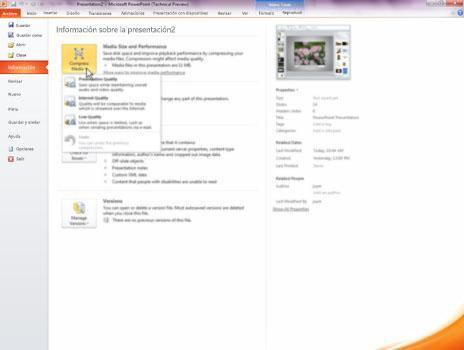 Comprimir archivos multimedia