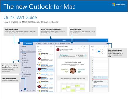 Guía de inicio rápido de Outlook 2016 para Mac