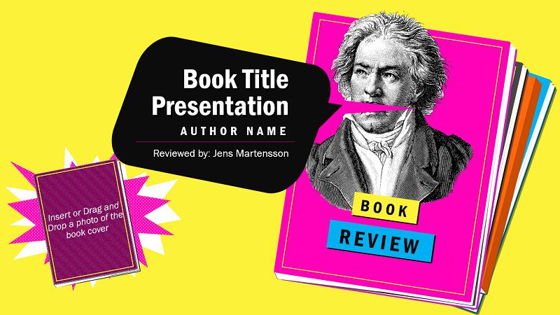 Ilustración de la portada de la plantilla de informe de libros