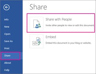 Haga clic en Compartir con otras personas.