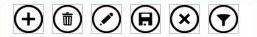 botones en la Barra de acciones en las aplicaciones de Access