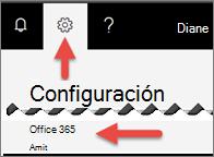 Una imagen que muestra dónde hacer clic en configuración.