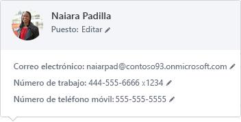 Información que contiene una tarjeta de contacto virtual