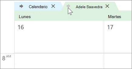 Calendarios superpuestos en Outlook