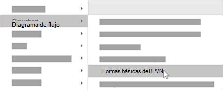 Agregue formas básicas de BPMN a las formas.