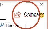 El botón Compartir en PowerPoint 2016