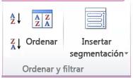 Imagen de la cinta de Excel