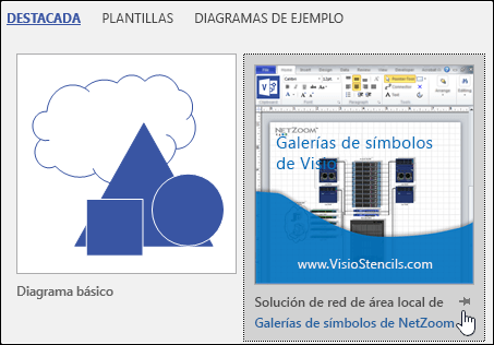 Miniatura de la plantilla de Visio proporcionada por un proveedor de terceros
