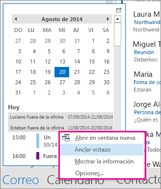 Calendario 2106.Cambiar El Modo En Que Ve El Calendario De Outlook Outlook
