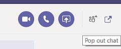 Mostrar las opciones de chat en Teams
