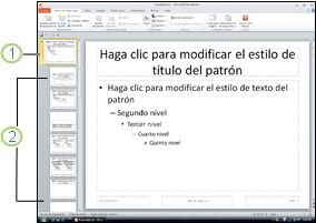 Patrón de diapositivas y diseños