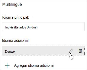 Editar un idioma con la característica multilingüe de Microsoft Forms