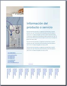 Plantilla Prospecto (diseño azul claro) de Office Online