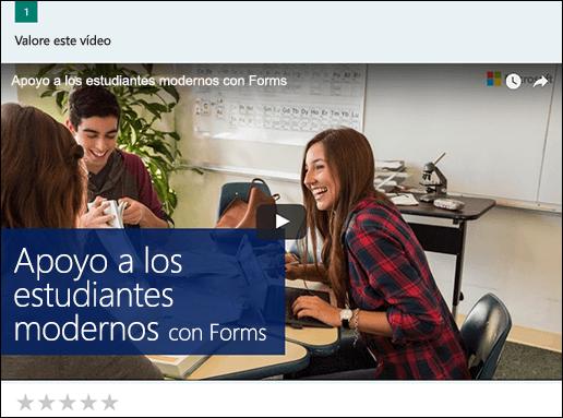 Insertar cuadro de vídeo de YouTube para Microsoft Forms