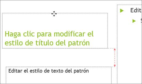 Mover un marcador de posición en una diapositiva