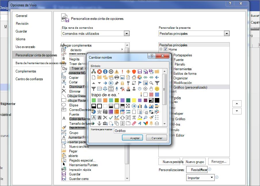 Haga clic en el icono de Venn, a continuación, escriba el gráfico en el campo nombre para mostrar y haga clic en Aceptar.