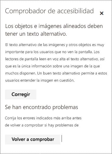 Comprobar si hay problemas de accesibilidad en un correo electrónico en Outlook en la Web.