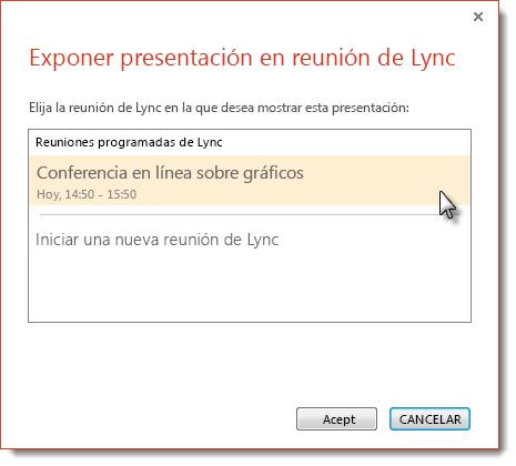 Iniciar una reunión de Lync