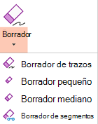 PowerPoint para Office 2019 tiene cuatro borradores para la entrada de lápiz digital.