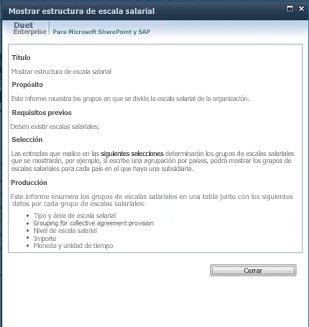 Al hacer clic en la opción para mostrar la descripción de esta configuración de informe, puede ver una descripción detallada de un informe.