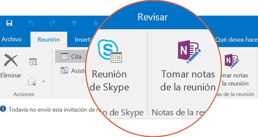 Colaborar con Skype y OneNote