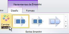 Cambie el color del elemento gráfico SmartArt.