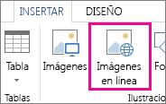 Botón Imágenes en línea