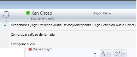 Opciones de audio