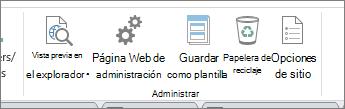 Administrar los botones de sitio