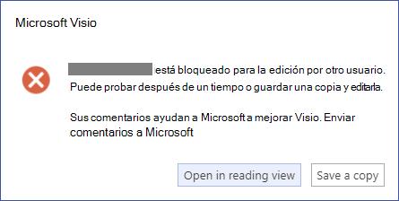 Un cuadro de mensaje que describe un error de bloqueo.