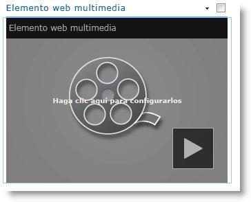 Elemento web multimedia recién insertado