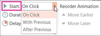 configurar los intervalos para iniciar una animación