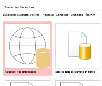 Botón Personalizar aplicación web en la pantalla de inicio.