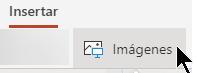 El botón Insertar imagen