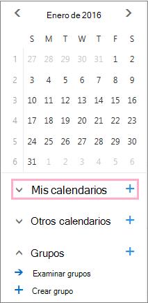 Agregar un calendario nuevo