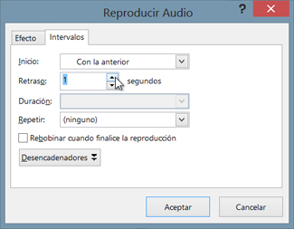 Retrasar el audio