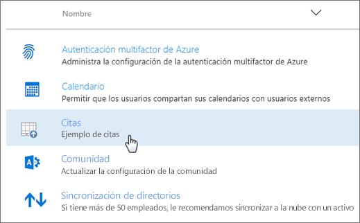 Complemento implementado en el Centro de administración de Office 365