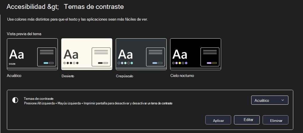 Windows 11 modo de contraste alto