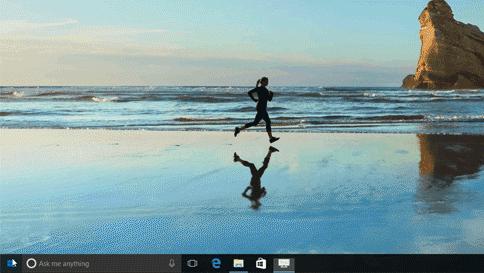 Imagen GIF animada que muestra la ordenación alfanumérica en el menú Inicio