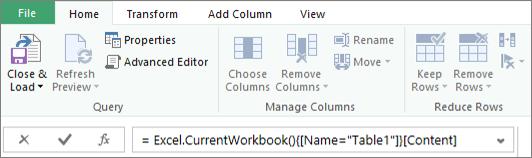 Ejemplo de fórmula del editor de consultas