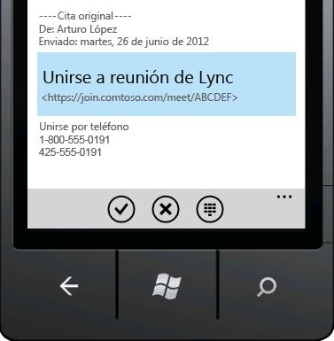 Unirse a una reunión de Lync