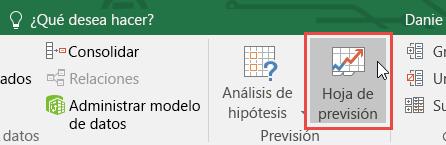 Crear una previsión en Excel 2016 para Windows - Excel