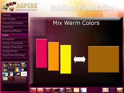 Grupo de colores cálidos