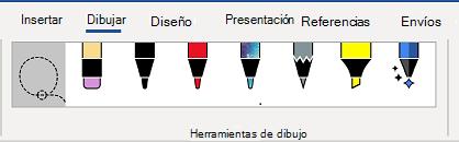Ficha Herramientas de dibujo de la cinta de opciones de Word.