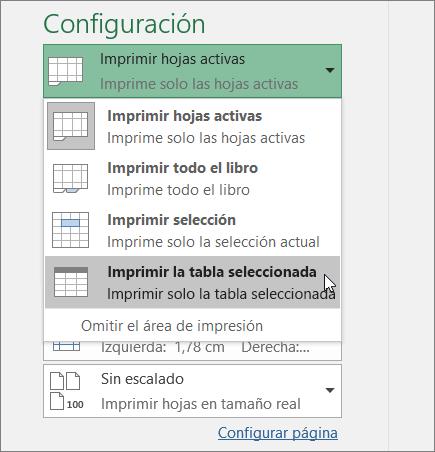 Imprimir una hoja de cálculo o un libro - Excel