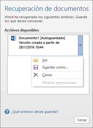 Recuperar Archivos Y Documentos De Word Soporte De Office