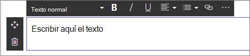 Elemento Web de texto